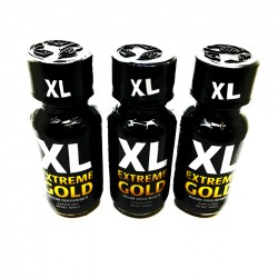 25ml XL Extreme Gold Poppers x 3