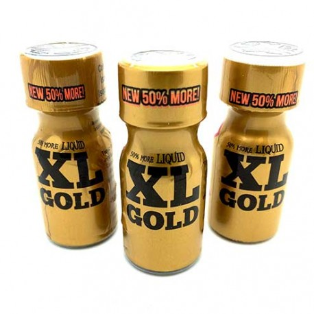 XL Gold Poppers x 3 - uk poppers next day delivery